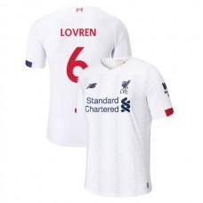 Liverpool 2019-20 #6 Dejan Lovren White Away Authentic Jersey