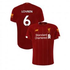 Liverpool 2019-20 #6 Dejan Lovren Red Home Authentic Jersey