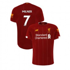 Liverpool 2019-20 #7 James Milner Red Home Authentic Jersey