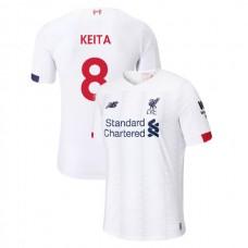 Liverpool 2019-20 #8 Naby Keita White Away Authentic Jersey