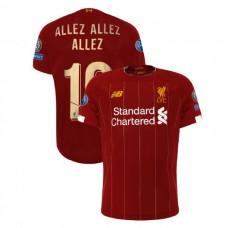 Liverpool European UCL Gold #19 ALLEZ ALLEZ ALLEZ Red Authentic Jersey