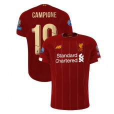 Liverpool European UCL Gold #19 Campione Red Authentic Jersey