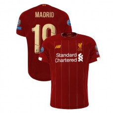 Liverpool European UCL Gold #19 Madrid Red Authentic Jersey