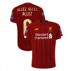 Liverpool European UCL Gold #6 ALLEZ ALLEZ ALLEZ Red Authentic Jersey