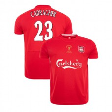 Liverpool Istanbul 2005 Retro Jamie Carragher Red Authentic Jersey