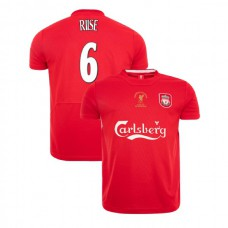 Liverpool Istanbul 2005 Retro John Arne Riise Red Authentic Jersey