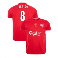 Liverpool Istanbul 2005 Retro Steven Gerrard Red Authentic Jersey