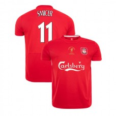 Liverpool Istanbul 2005 Retro Vladimir Smicer Red Authentic Jersey