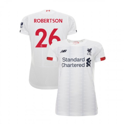 Women's Liverpool 2019-20 Away #26 Andrew Robertson White Authentic Jersey