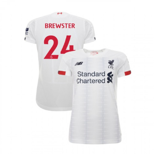 Women's Liverpool 2019-20 Away #24 Rhian Brewster White Authentic Jersey