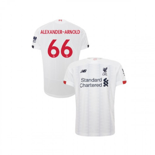 Youth Liverpool 2019-20 Away #66 Trent Alexander-Arnold White Authentic Jersey
